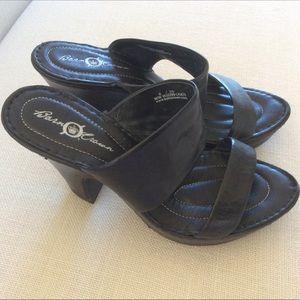 Born Crown Black Platform Sandals